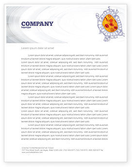 Cytology Letterhead Template, 02595, Medical — PoweredTemplate.com