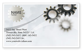 Utilities/Industrial: Gears Business Card Template #02605