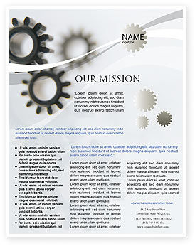 Utilities/Industrial: Gears Flyer Template #02605