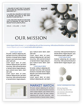 Gears Newsletter Template, 02605, Utilities/Industrial — PoweredTemplate.com