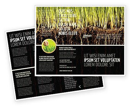 Soil Brochure Template, 02607, Nature & Environment — PoweredTemplate.com