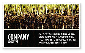 Nature & Environment: Soil Business Card Template #02607