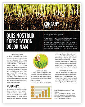 Nature & Environment: Soil Newsletter Template #02607