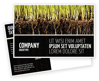 Soil Postcard Template, 02607, Nature & Environment — PoweredTemplate.com