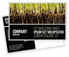 Nature & Environment: Soil Postcard Template #02607