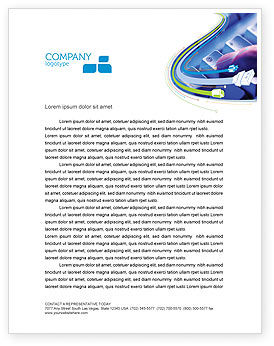 Technology, Science & Computers: Email Hosting Letterhead Template #02609