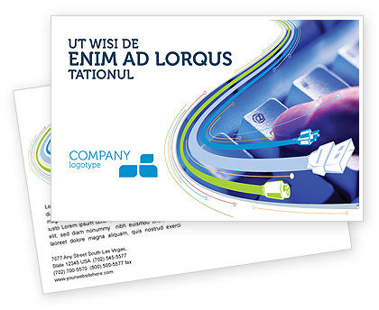Technology, Science & Computers: Email Hosting Postcard Template #02609