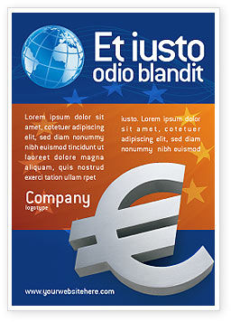 Financial/Accounting: Europeese Unie Advertentie Template #02642