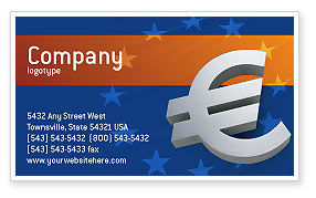 Financial/Accounting: European Union Business Card Template #02642
