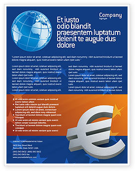 Financial/Accounting: Europäische union Flyer Vorlage #02642