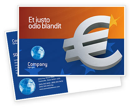European Union Postcard Template, 02642, Financial/Accounting — PoweredTemplate.com