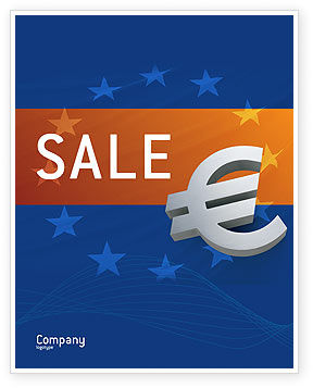 European Union Sale Poster Template, 02642, Financial/Accounting — PoweredTemplate.com