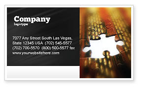 Business Concepts: Missing Part Business Card Template #02652