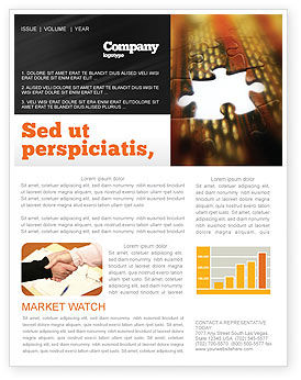 Business Concepts: Missing Part Newsletter Template #02652