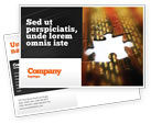 Business Concepts: Missing Part Postcard Template #02652