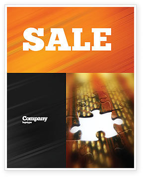 Missing Part Sale Poster Template, 02652, Business Concepts — PoweredTemplate.com