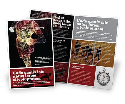 Sports: Laufender mann Broschüren Vorlage #02660
