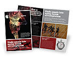 Sports: Rennende Man Brochure Template #02660