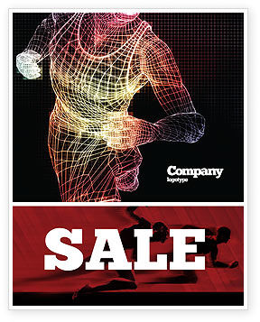 Sports: Running Man Sale Poster Template #02660