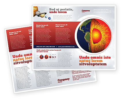 Earth Core Brochure Template, 02665, Technology, Science & Computers — PoweredTemplate.com
