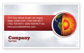 Technology, Science & Computers: Earth Core Business Card Template #02665