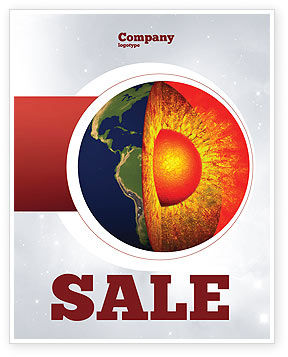 Earth Core Sale Poster Template, 02665, Technology, Science & Computers — PoweredTemplate.com