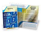 Telecommunication: Plantilla de folleto - touchpad #02667