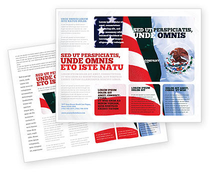 Mexico and USA Brochure Template, 02668, Flags/International — PoweredTemplate.com