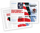 Flags/International: Mexico and USA Brochure Template #02668