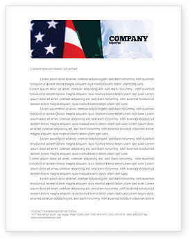 Mexico and USA Letterhead Template, 02668, Flags/International — PoweredTemplate.com