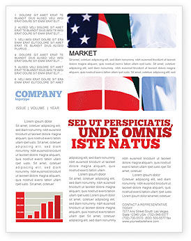 Flags/International: Mexico and USA Newsletter Template #02668