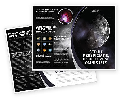 Moon Brochure Template, 02670, Nature & Environment — PoweredTemplate.com