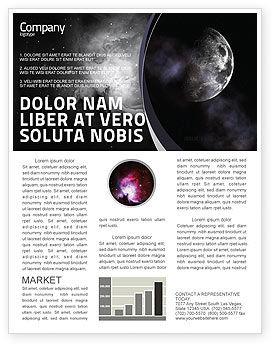 Moon Newsletter Template, 02670, Nature & Environment — PoweredTemplate.com