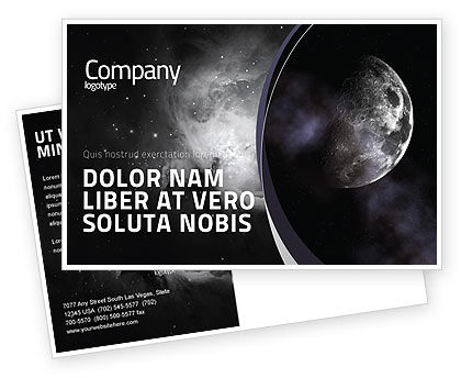 Nature & Environment: Moon Postcard Template #02670