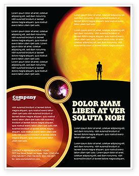Technology, Science & Computers: Modelo de Folheto - humano e espaço #02671