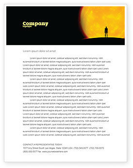 Technology, Science & Computers: Human and Space Letterhead Template #02671