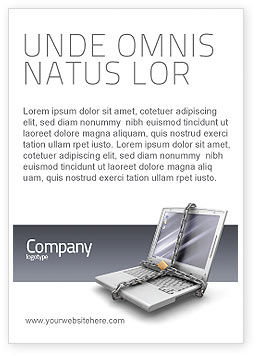 Information Security Ad Template, 02673, Technology, Science & Computers — PoweredTemplate.com