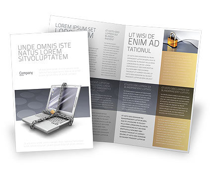Information security brochure template design and layout for Information brochure template