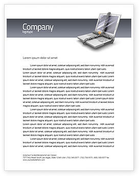 Technology, Science & Computers: Information Security Letterhead Template #02673