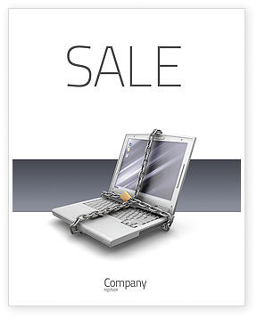 Technology, Science & Computers: Information Security Sale Poster Template #02673