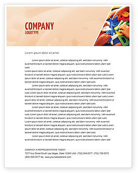 Alphabet Game Letterhead Template, 02675, Education & Training — PoweredTemplate.com