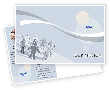 Business Concepts: Community Postcard Template #02677