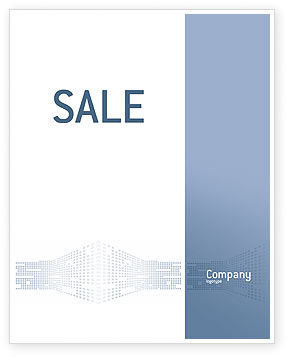 Telecommunication: Data Flow Sale Poster Template #02678