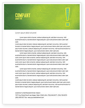 Exclamation Mark Letterhead Template