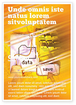 Technology, Science & Computers: Opslaan Van Gegevens Advertentie Template #02685
