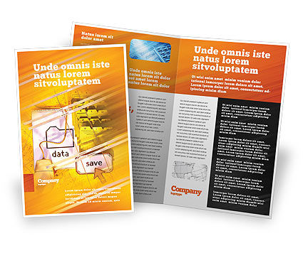 Technology, Science & Computers: Opslaan Van Gegevens Brochure Template #02685