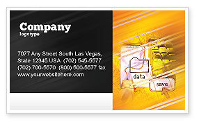 Technology, Science & Computers: Data Saving Business Card Template #02685