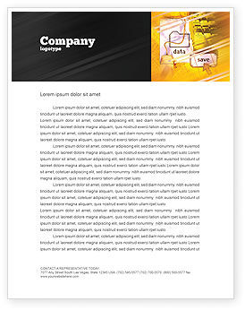 Technology, Science & Computers: Data Saving Letterhead Template #02685