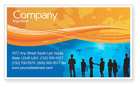 People: Contracting People Business Card Template #02686
