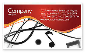 Music Business Card Template, 02687, Art & Entertainment — PoweredTemplate.com